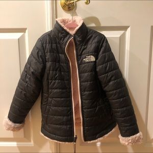 Authentic gently used reversible Girls North face